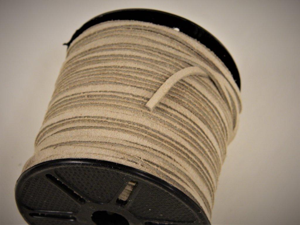 Läderrem - Mocka 3 x 2 mm - Remmar 02226b43b0519
